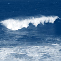 Picture of breaking wave